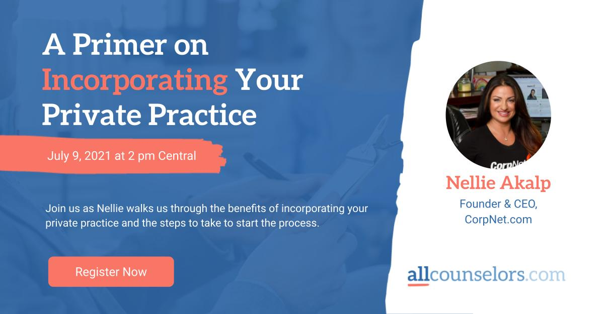A Primer On Incorporating Your Private Practice Event Slide